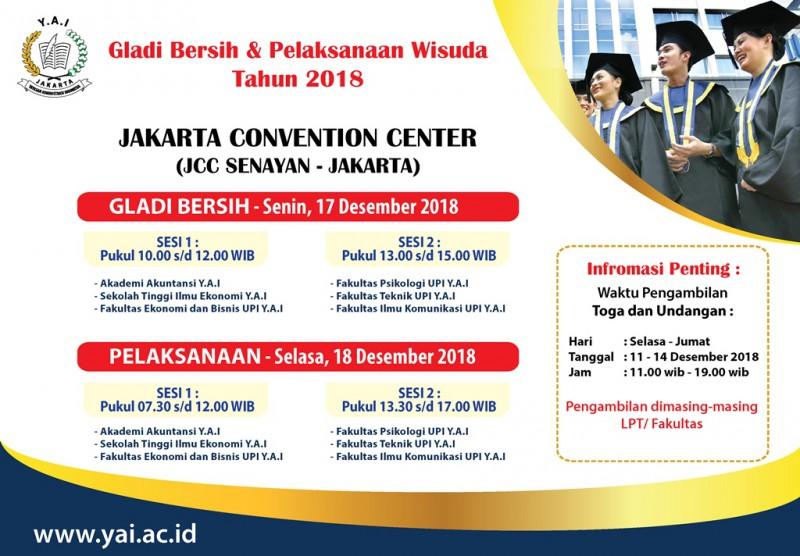 Pengumuman Wisuda Gabungan LPT Y.A.I 2018