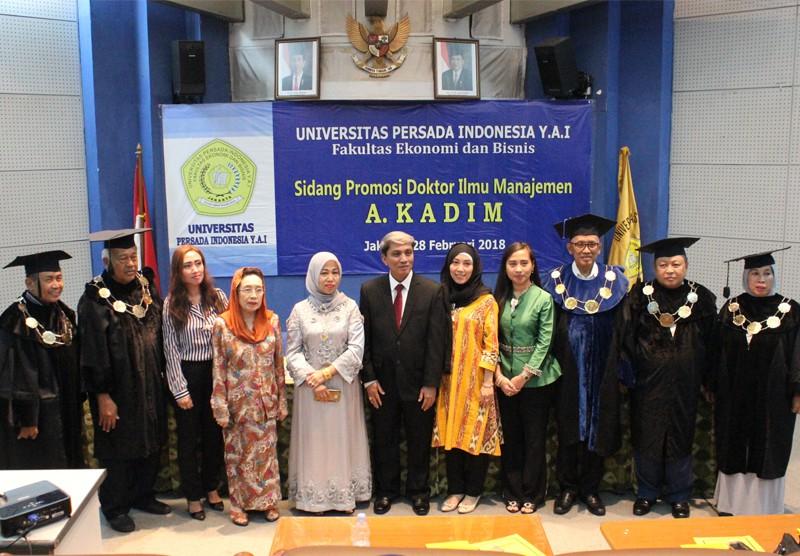 Sidang Promosi Doktor Ilmu Manajemen Yayasan Administrasi Indonesia
